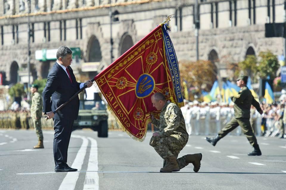 Президент Украины Пётр Порошенко принял участие в церемонии Дня независимости
