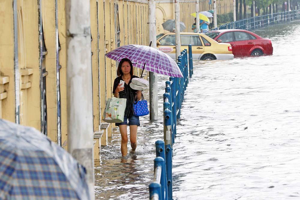 Последствия тайфуна в Китае