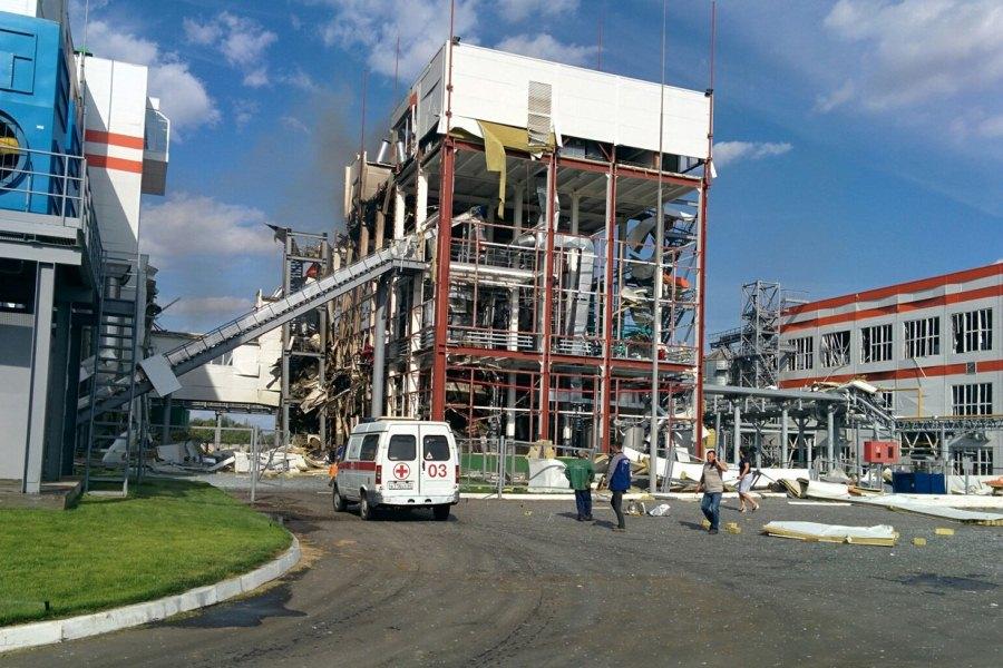 Взрыв на заводе в Саратовской области