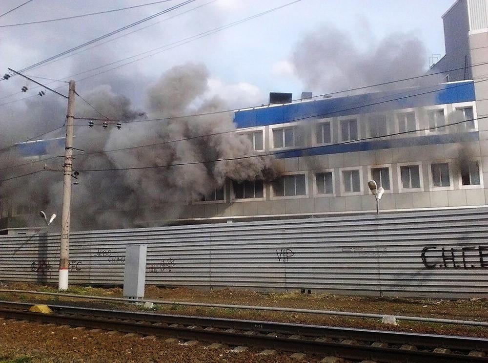 Пожар в торговом комплексе