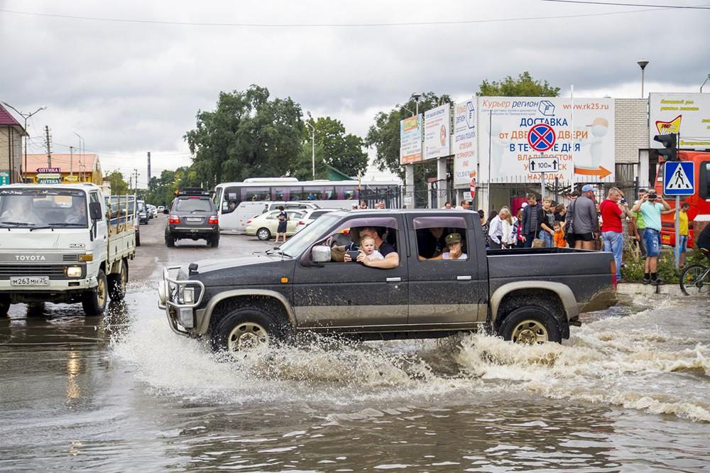 Последствия ливней в Приморье