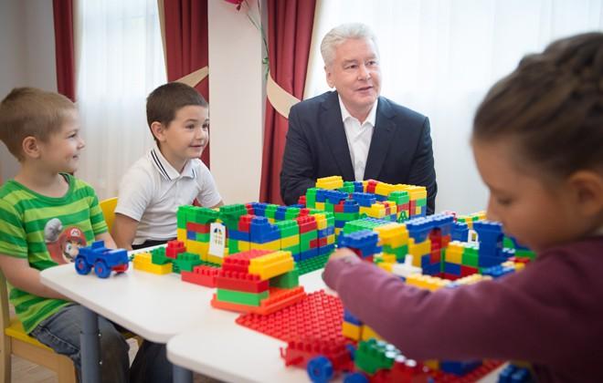Сергей Собянин на открытии нового детского сада