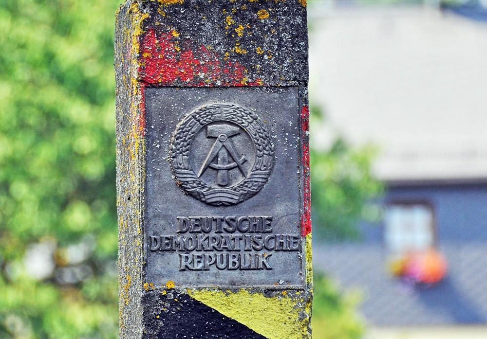 Пограничный столб на границе ГДР и ФРГ