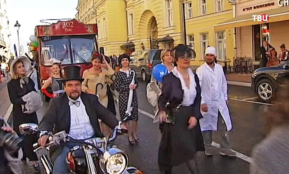 Открытие Большой Никитской улицы после реконструкции