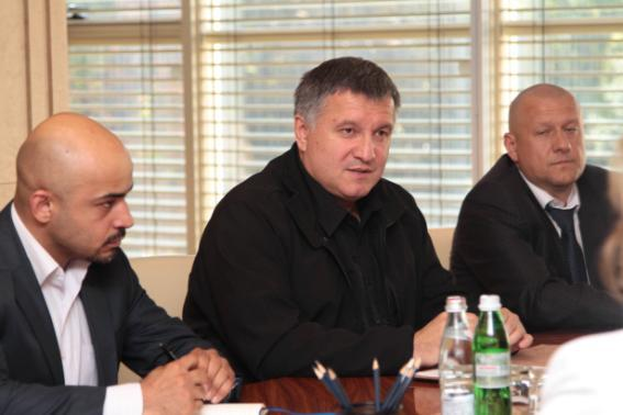 Встреча главы МВД Украины Арсена Авакова с представителями Дивизиона техасских рейнджеров
