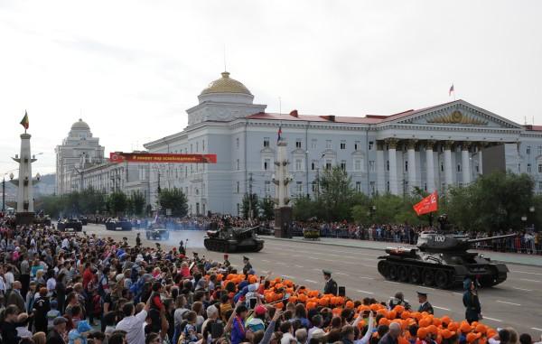Военный парад войск Читинского гарнизона