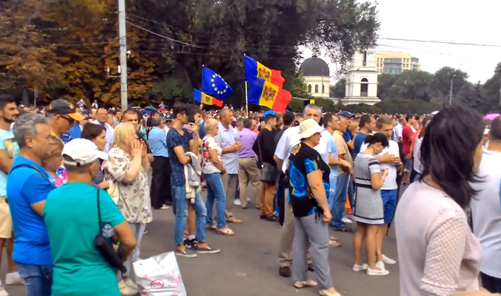 Акция протеста в Кишинёве