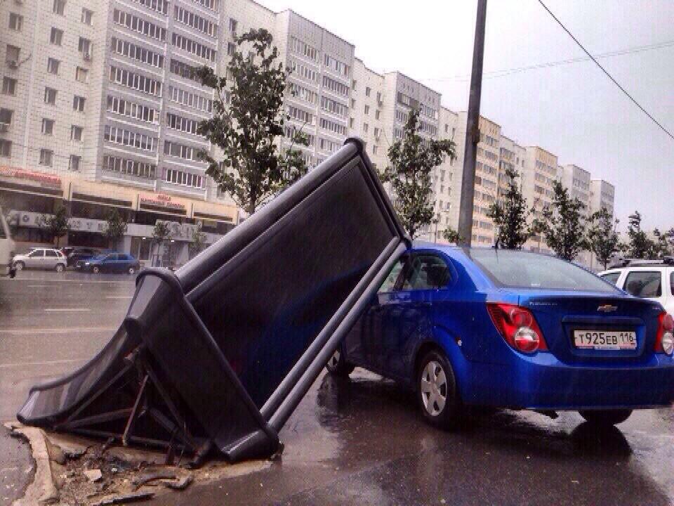 Последствия урагана в Казани
