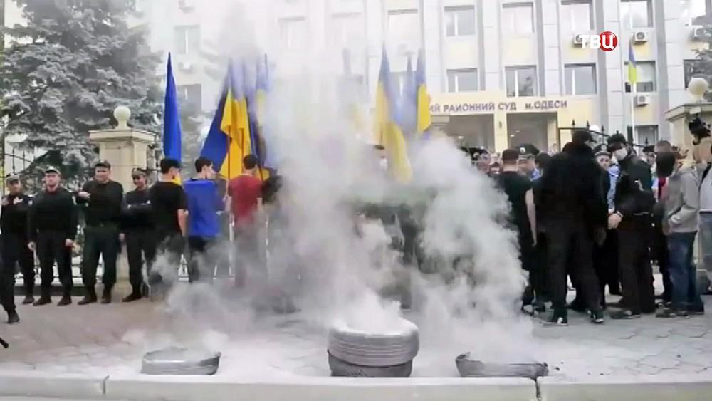 Митинг у здания Приморского суда Одессы