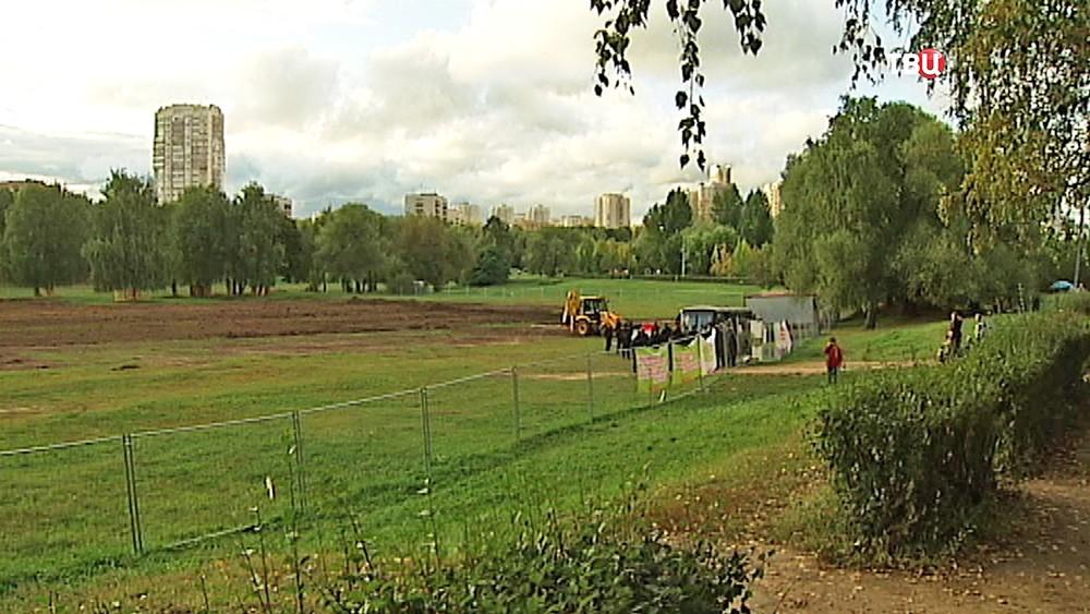 Стройка в парке Дружбы