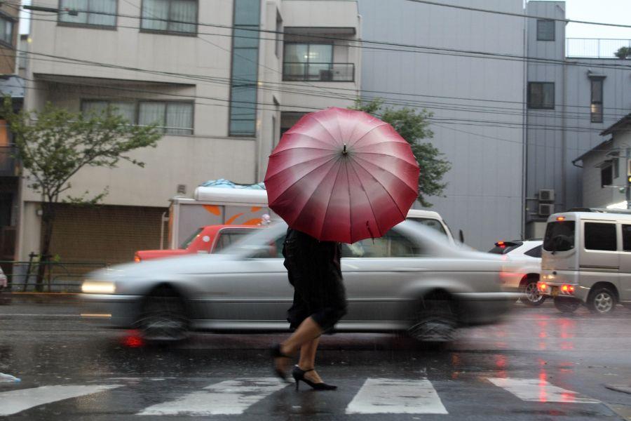 """Шторм """"Этау"""" в Токио"""