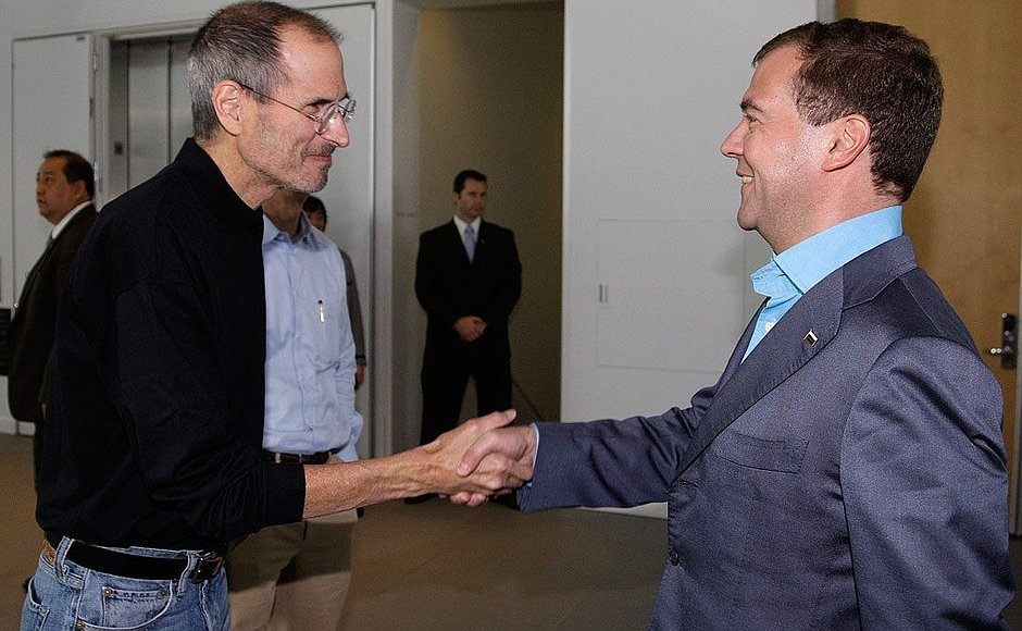Дмитрий Медведев и Стив Джобс