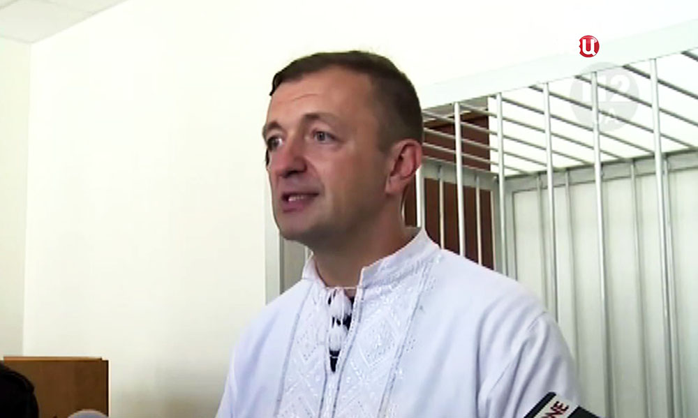 """Один из лидеров партии """"Свобода"""" Эдуард Леонов в суде"""