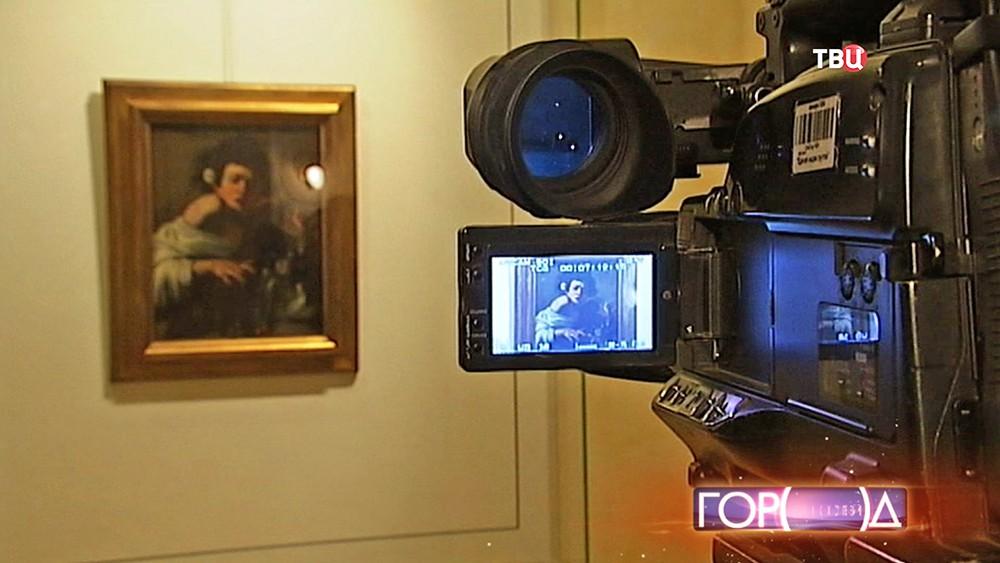 """Съёмка картины Микеланджело Меризи да Караваджо """"Мальчик, укушенный ящерицей"""""""