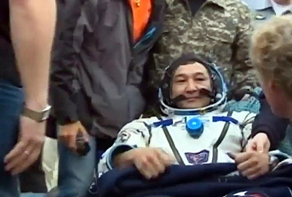 Казахстанский космонавт Айдын Аимбетов