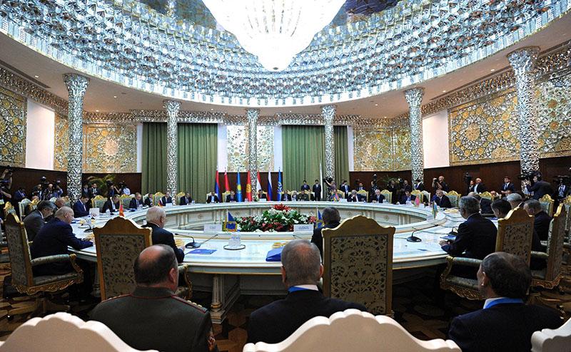 Заседание Совета коллективной безопасности Организации Договора о коллективной безопасности в расширенном составе