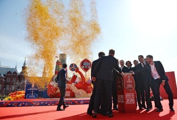Собянин принял участие в церемонии запуска часов обратного отсчета до мундиаля