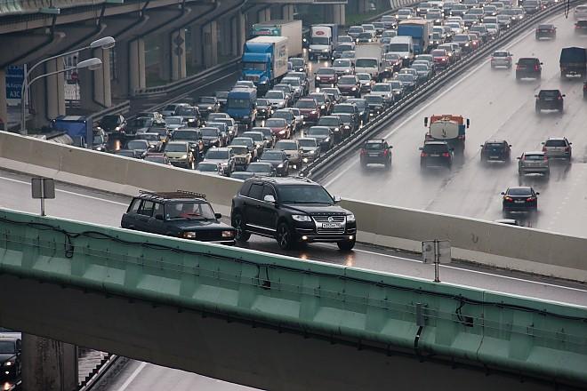 Развязка на пересечении проспекта Маршала Жукова и МКАД