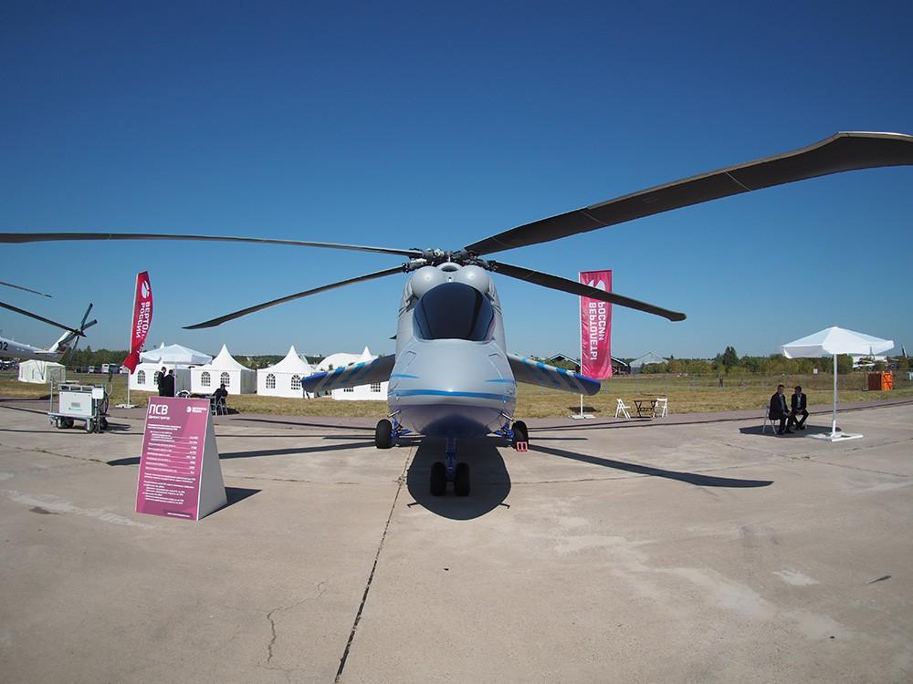 Вертолет-демонстратор летающей лаборатории для проекта ПСВ (перспективный скоростной вертолёт) на базе Ми-24К