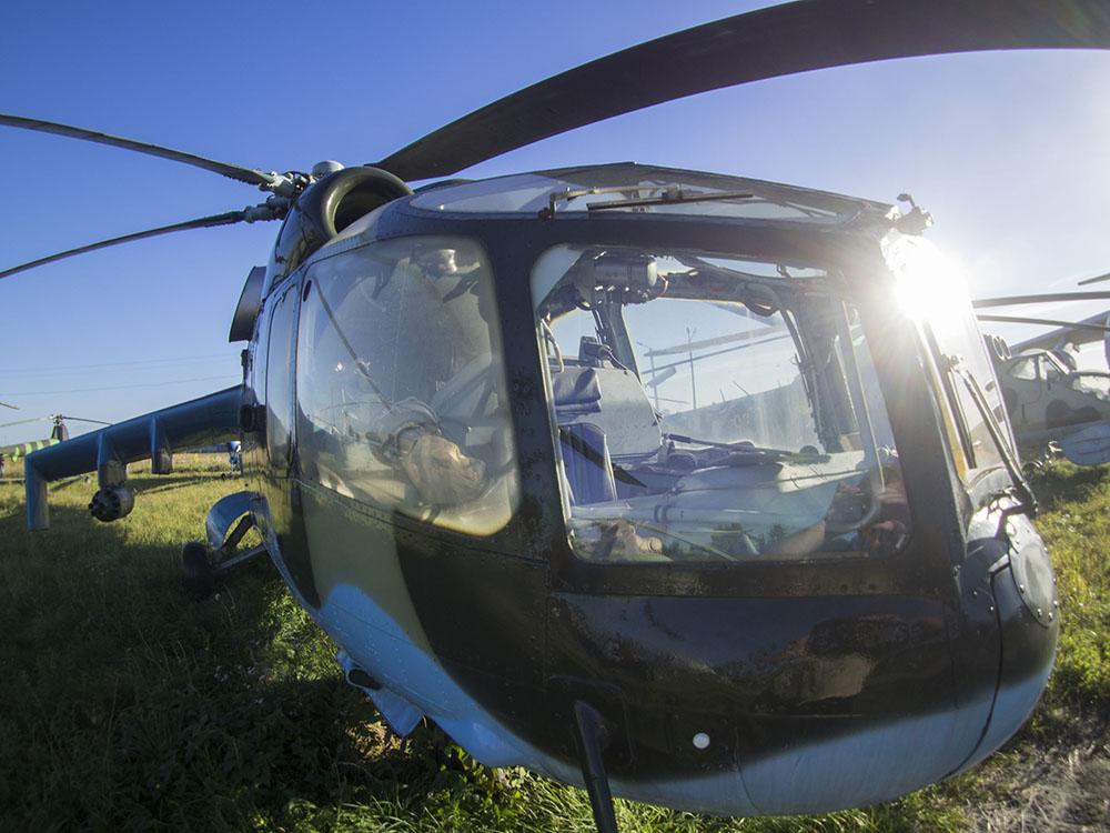 Вертолет Ми-24А имел общую переднюю двухместную кабину с двойным управлением