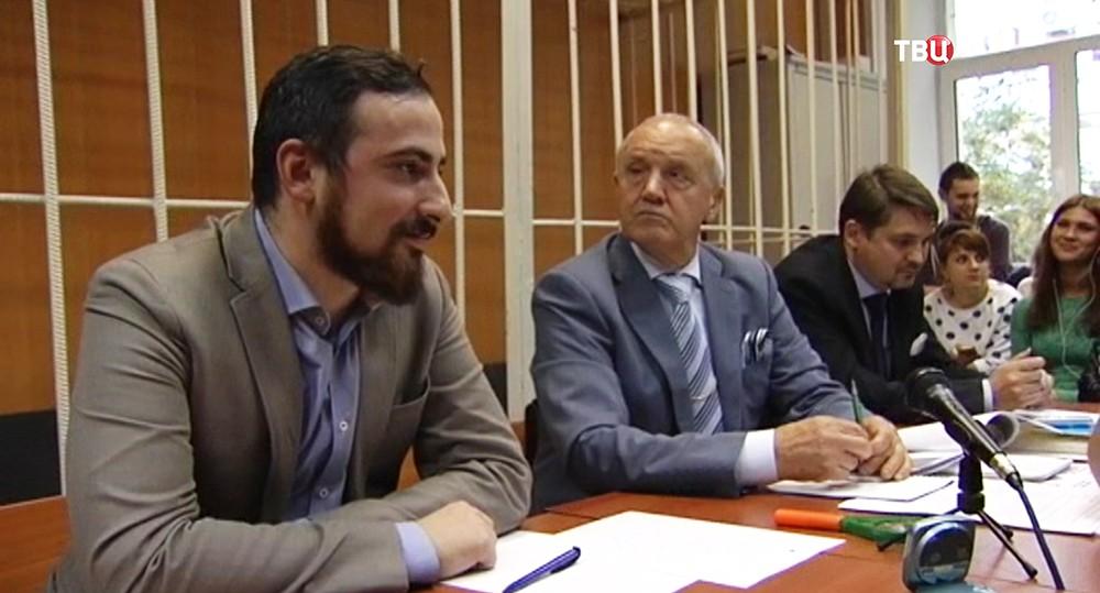 Дмитрий Цорионов в зале суда