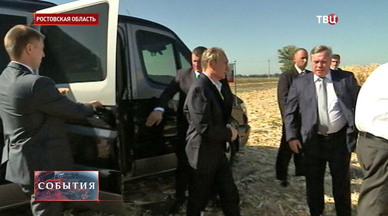 Владимир Путин прибыл в Ростовскую область