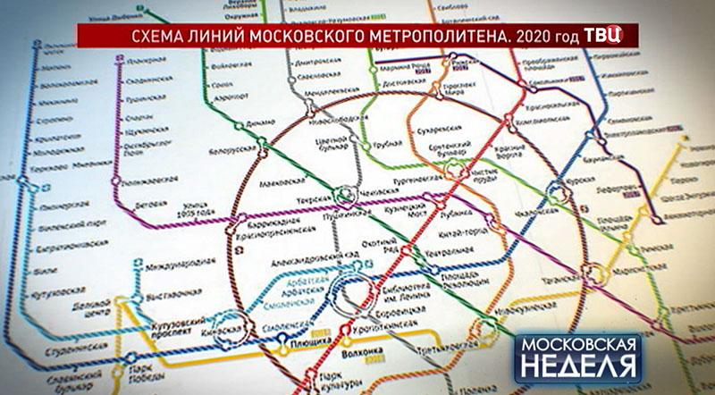 Схема метро к 2020 году
