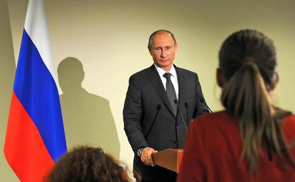 Владимир Путин ответил на вопросы журналистов по завершении участия в сессии Генеральной Ассамблеи ООН
