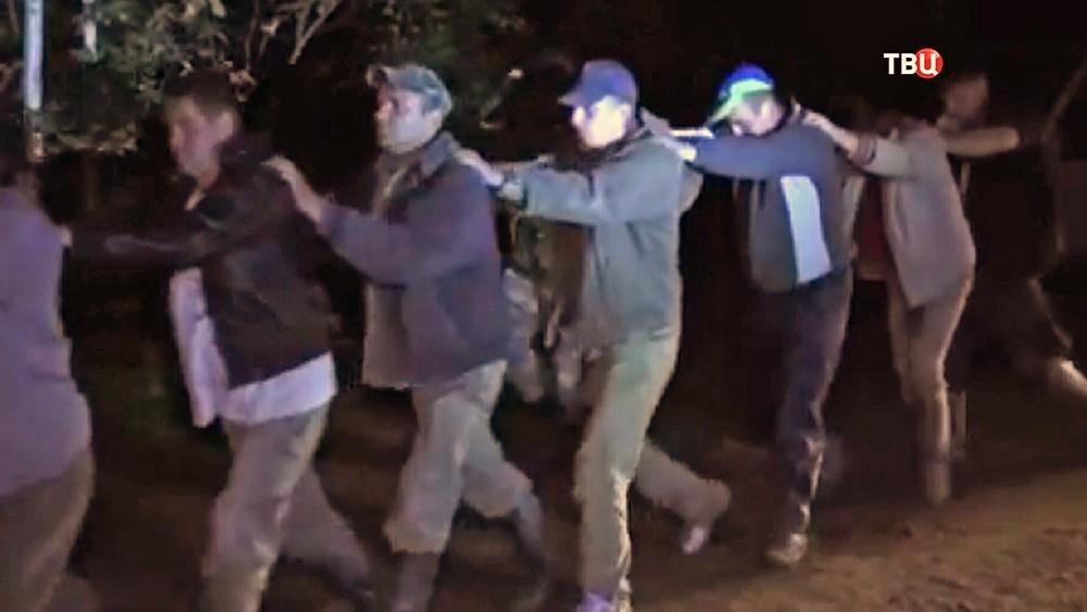 Задержание нелегальных копателей янтаря в Украине