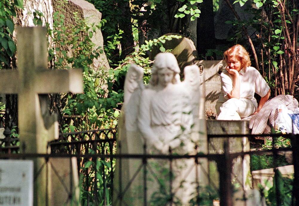 Посетители кладбища