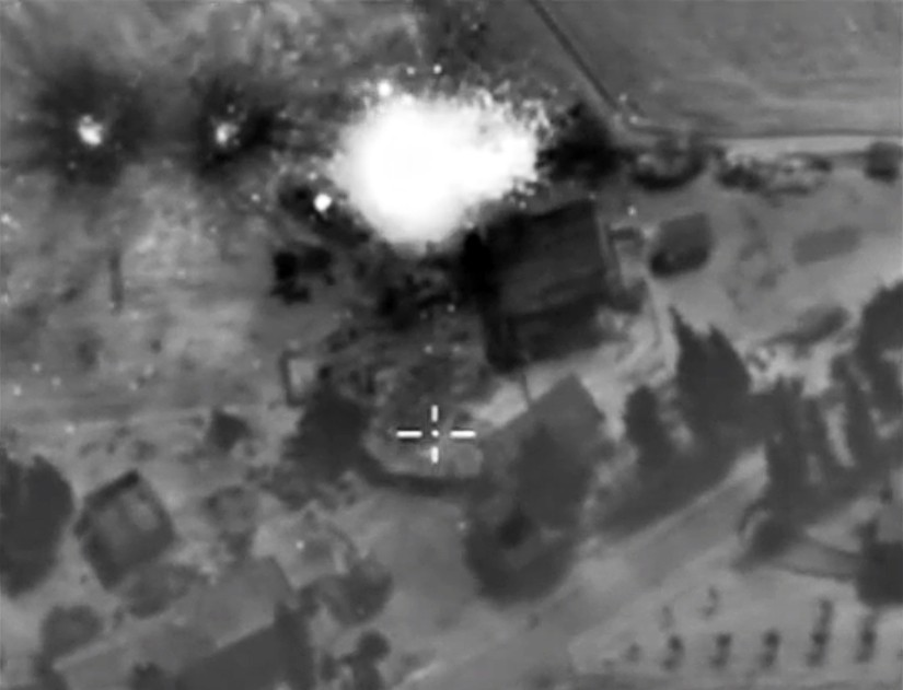 Авиаудар по позициям ИГ