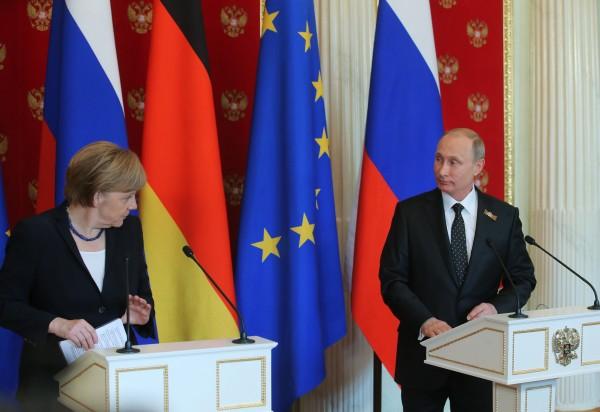 Канцлер Германии Ангела Меркель и президент России Владимир Путин