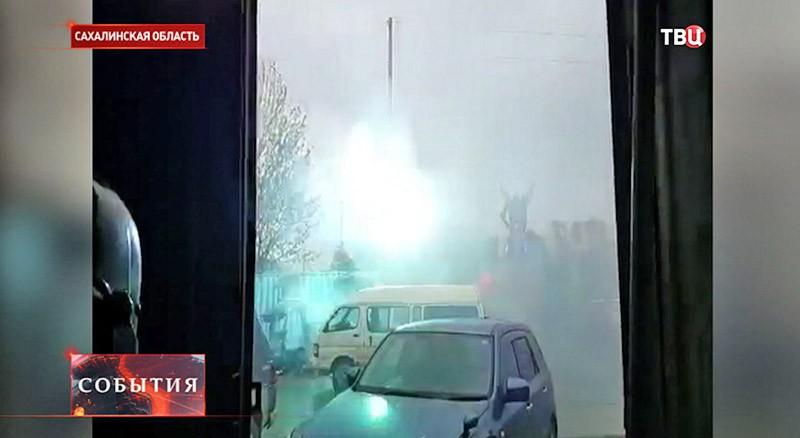 Удар молнии в Сахалинской области