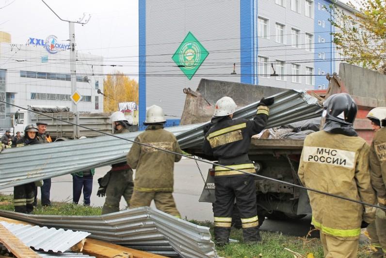 Последствие урагана в Алтайском крае