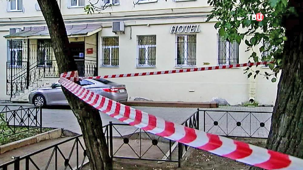 Оцепление на месте перестрелки в Санкт-Петербурге