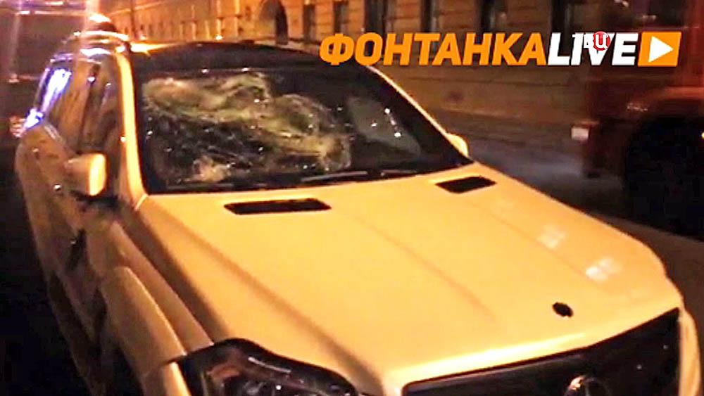 Машина одного из участников перестрелки в Санкт-Петербурге