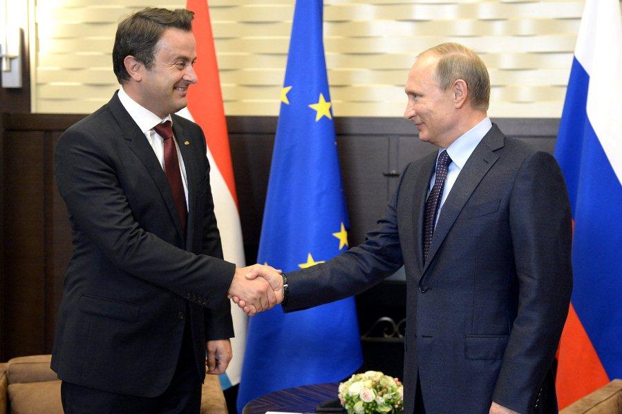 Премьер Люксембурга Ксавье Беттель и Владимир Путин