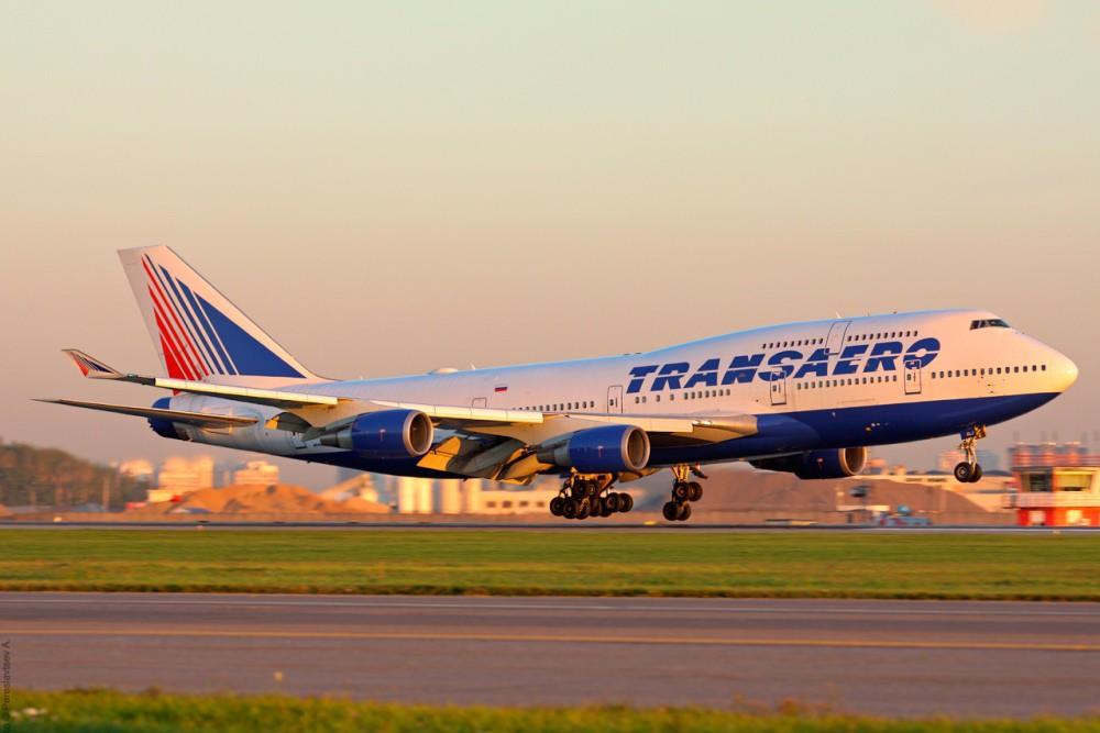 "Boeing 747 авиакомпании ""Трансаэро"""