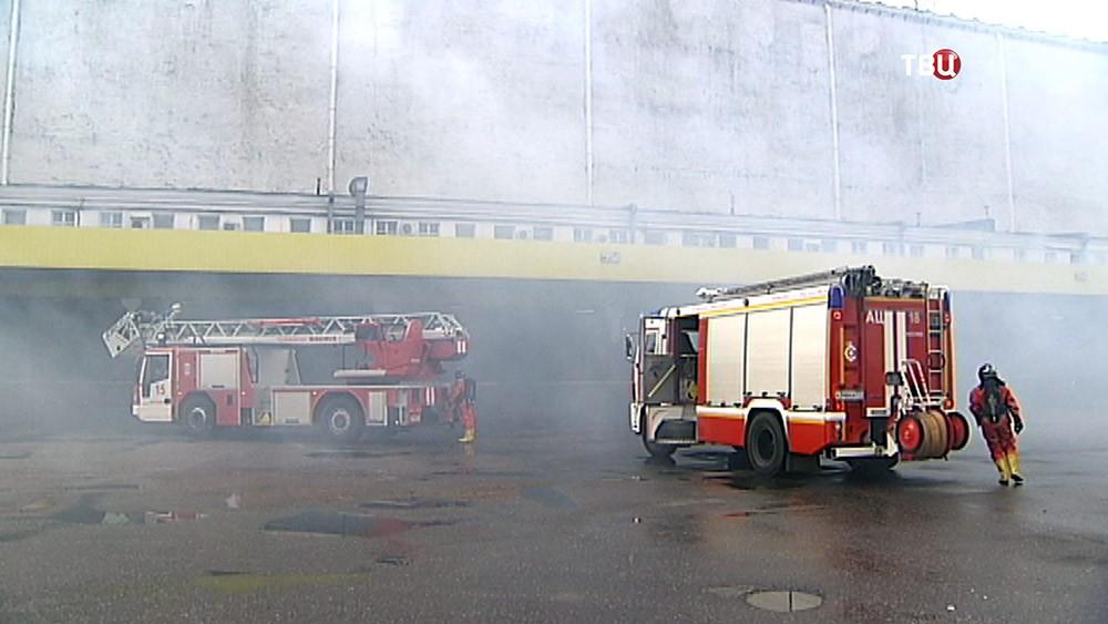 Пожарные учения МЧС