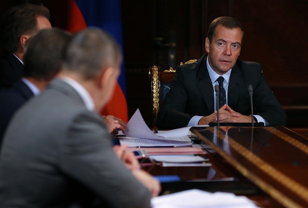 Встреча премьер-министра РФ Дмитрия Медведева с вице-премьерами