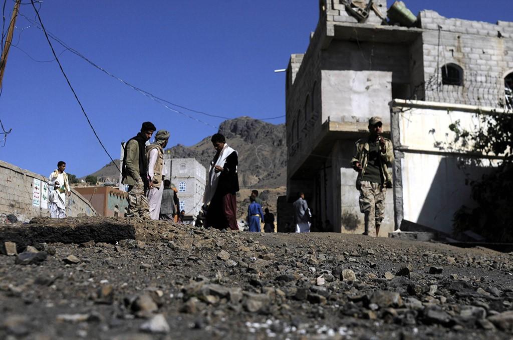На месте авиаудара в Йемене