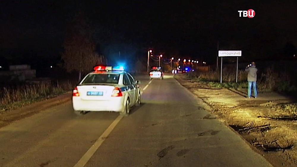 Полиция в деревне Тимошкино