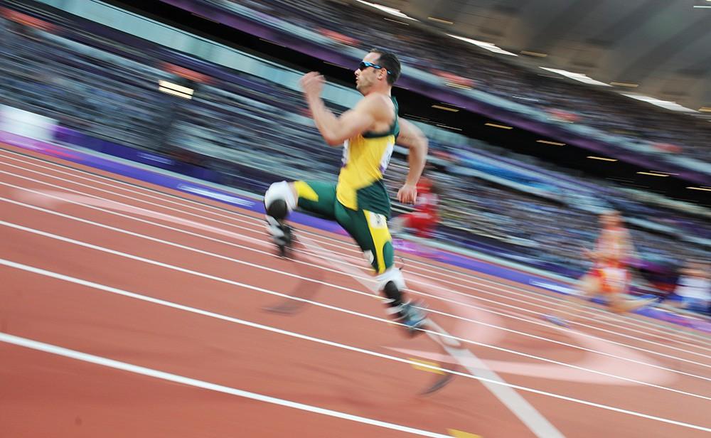 Южноафриканский паралимпиец Оскар Писториус