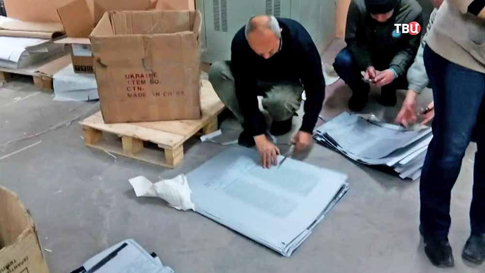 Уничтожение печатных форм c избирательными беллютенями в Украине