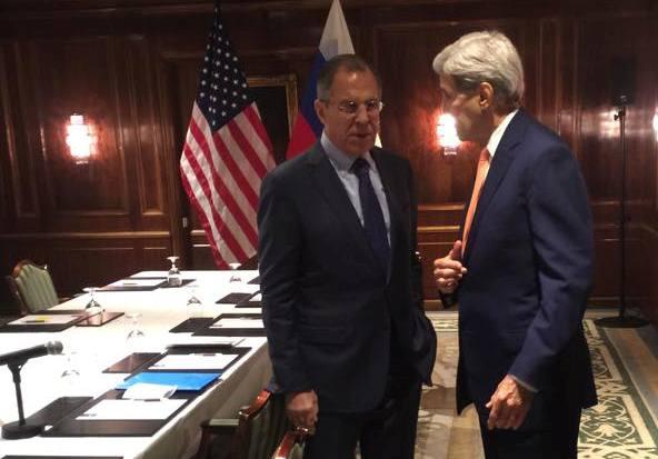 Переговоры министра иностранных дел России Сергея Лаврова и госсекретаря США Джона Керри