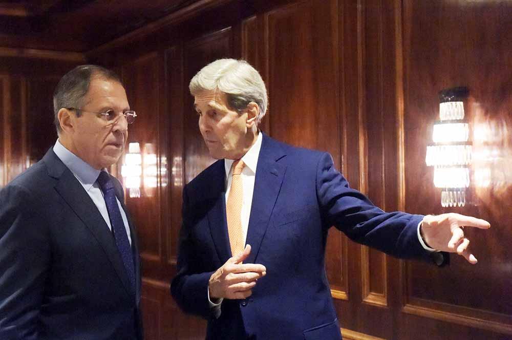 Госсекретарь США Джон Керри и глава МИД Сергей Лавров