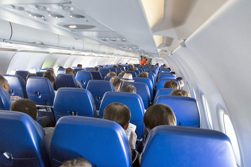 Пассажиры в самолёте