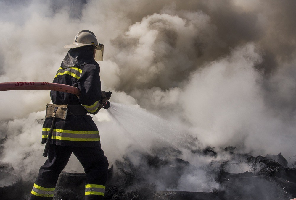 Пожарный на месте ЧП