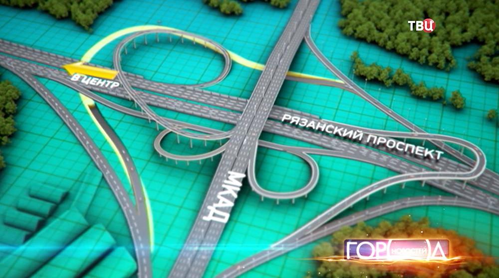 Схема дорожной развязки