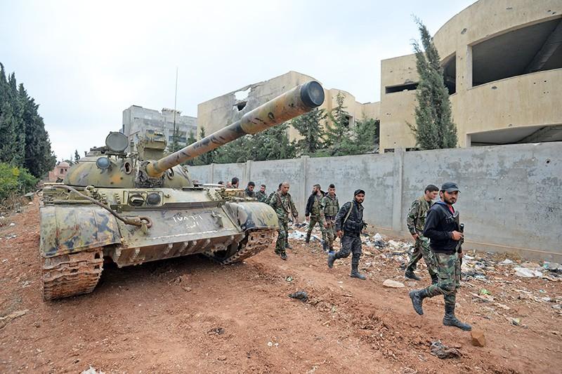 Бойцы Сирийской Арабской Армии